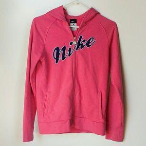 Nike Girl's Zipper Front Hoodie Sweatshirt